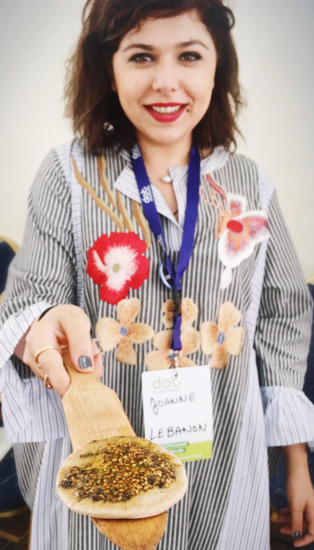 Joanne Raad holding traditional food