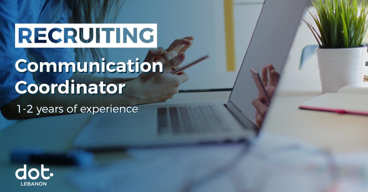 DOT Lebanon's hiring a Communication Coordinator