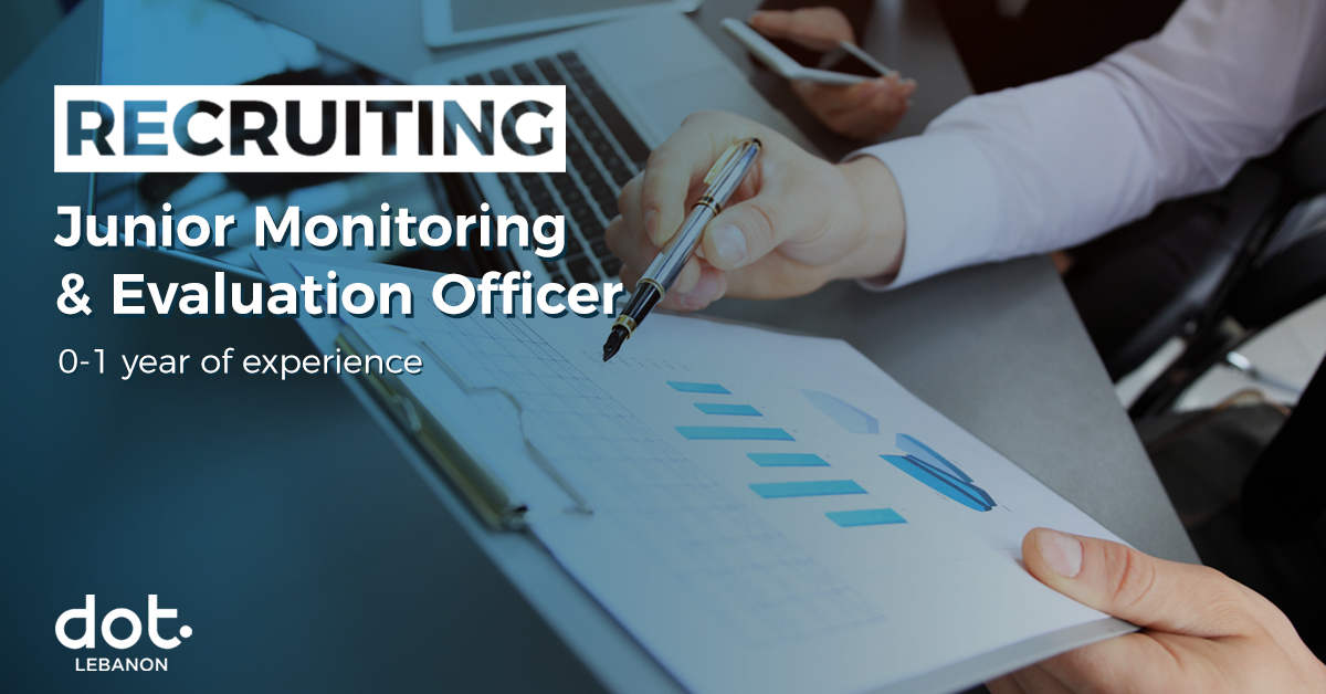 DOT Lebanon's hiring a junior Monitoring & Evaluation Officer.