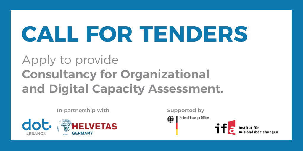 Tender - Apply to provide Consultancy for Organizational and Digital Capacity Assessment