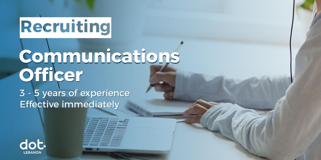 DOT Lebanon's hiring a communications officer